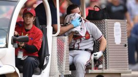 Braves Player Charlie Culberson Was Hit in the Face With a 90 Mph Fastball