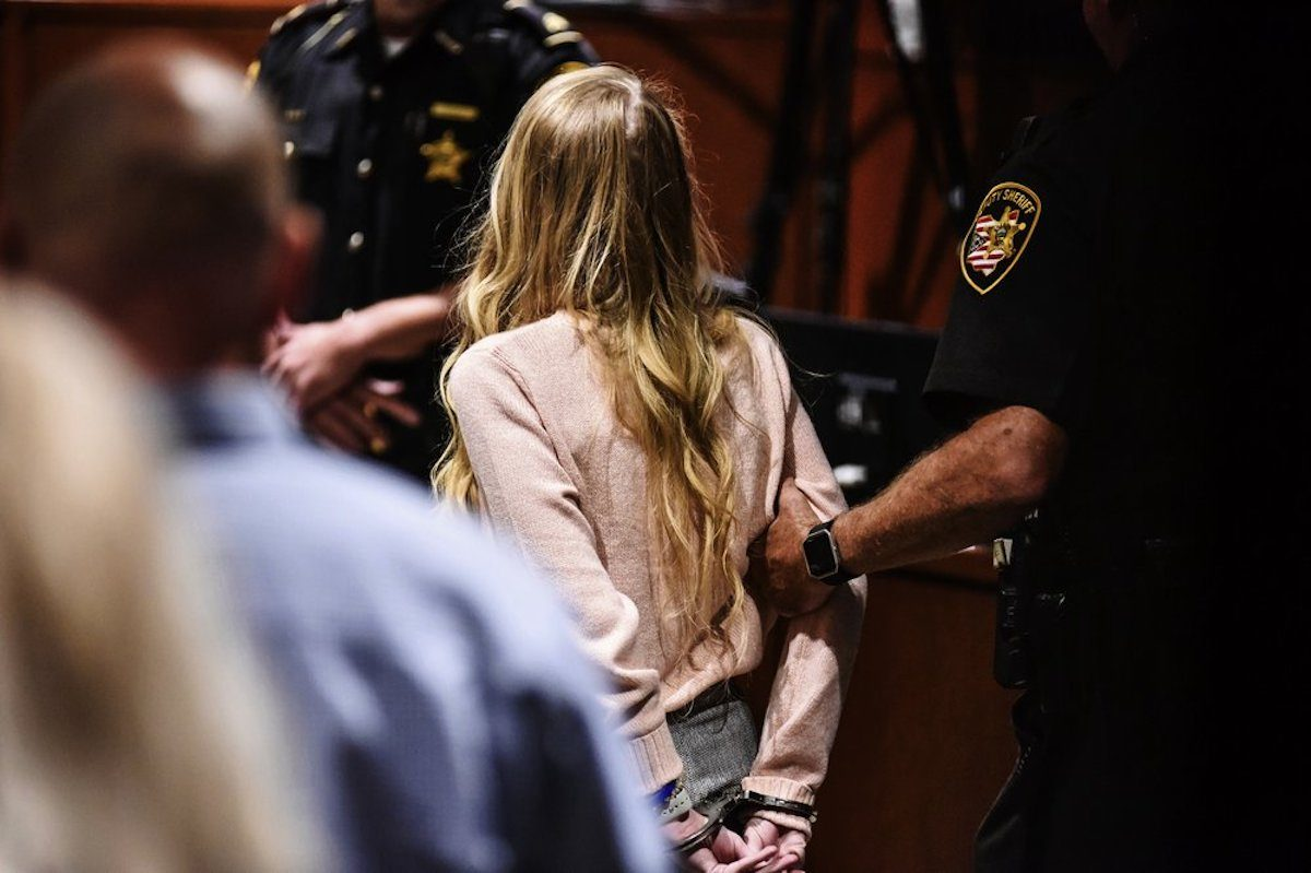 Brooke Skylar Richardson is escorted out of the courtroomBrooke Skylar Richardson is escorted out of the courtroom