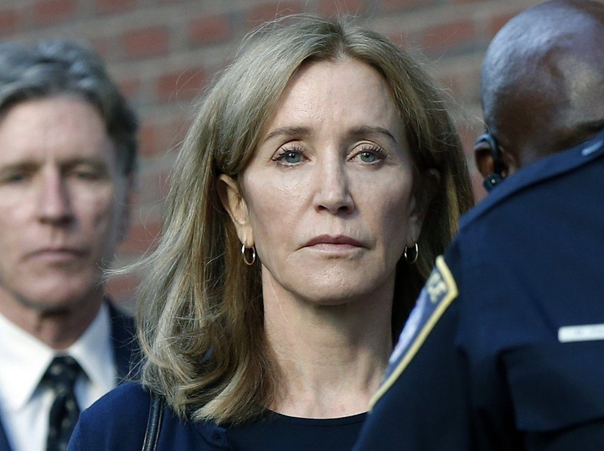 Felicity Huffman leaves federal court