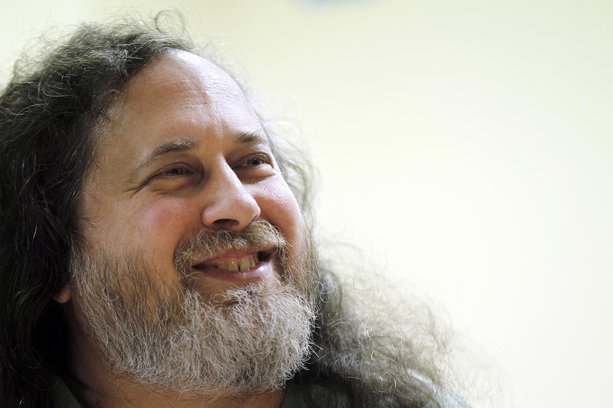 US software freedom activist and computer programmer Richard Stallman.