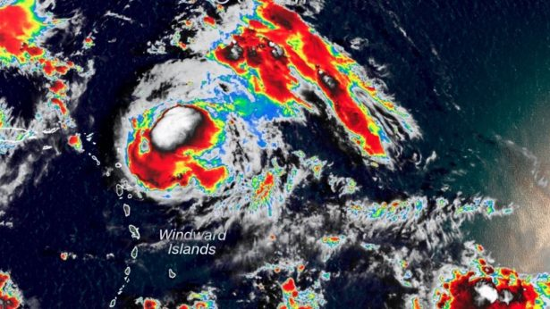 Hurricane Jerry Strengthens to Category 2 Storm, Heading North of Leeward Islands