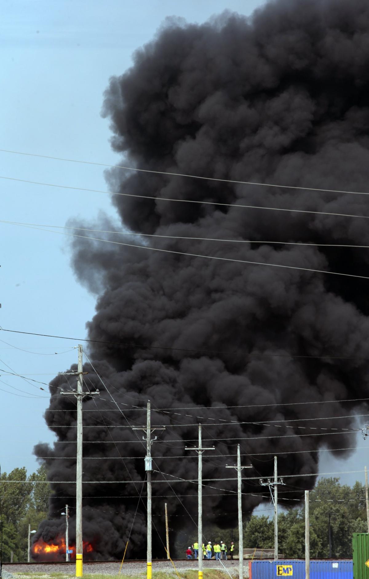 Illinois Train Fire-Derailment