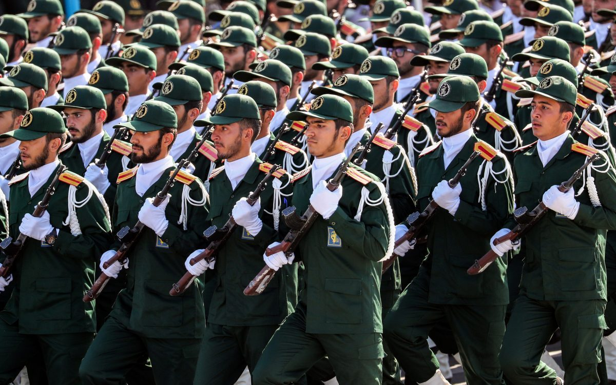 Members of IRGC march