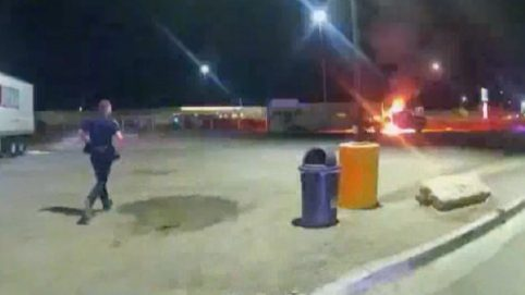 Police Release Video From Propane Explosion That Critically Burned Couple at Truck Stop