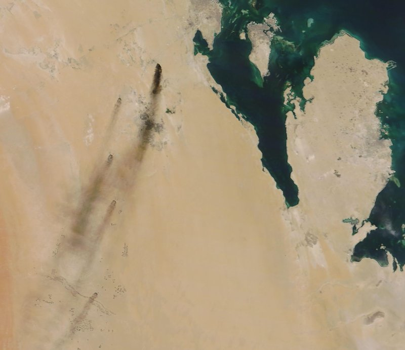Satellite image from drone attack