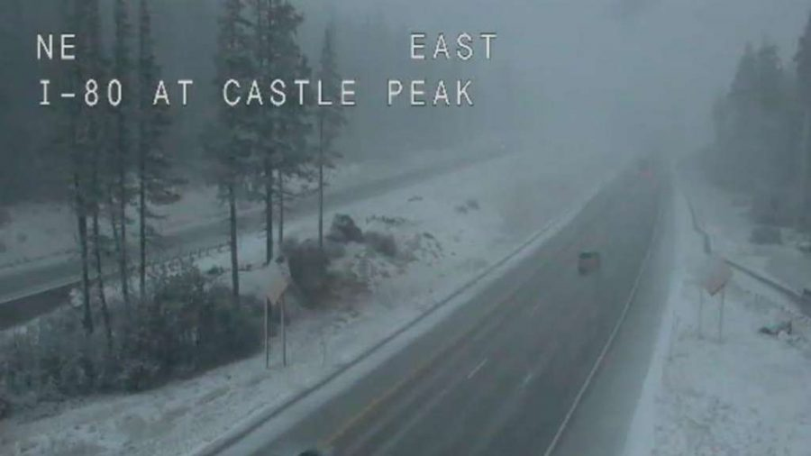 First Snow Reported in Sierra Nevada, California