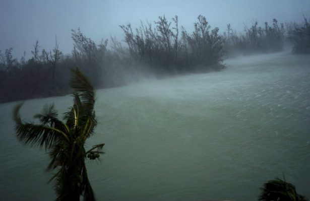 Strong winds from Hurricane Dorian