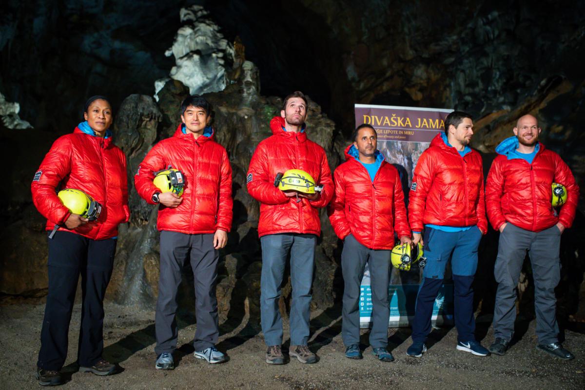 Team of NASA astronauts in Slovenia