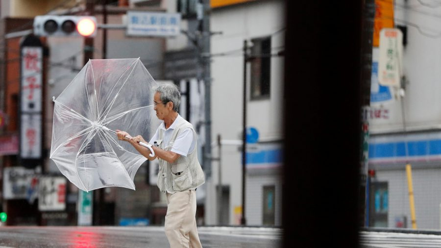 Typhoon Lashes Tokyo Area With Record-Breaking Winds