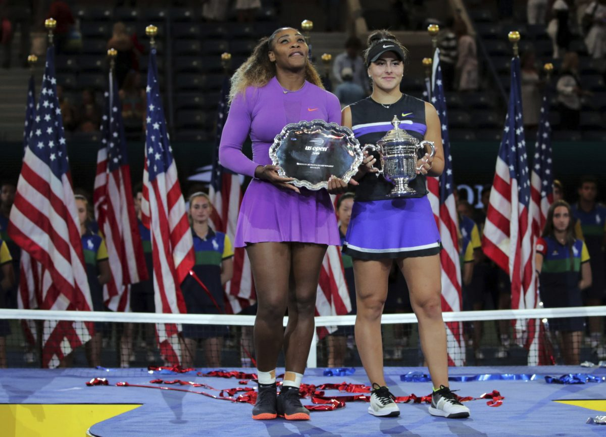 Bianca Andreescu and Serena Williams