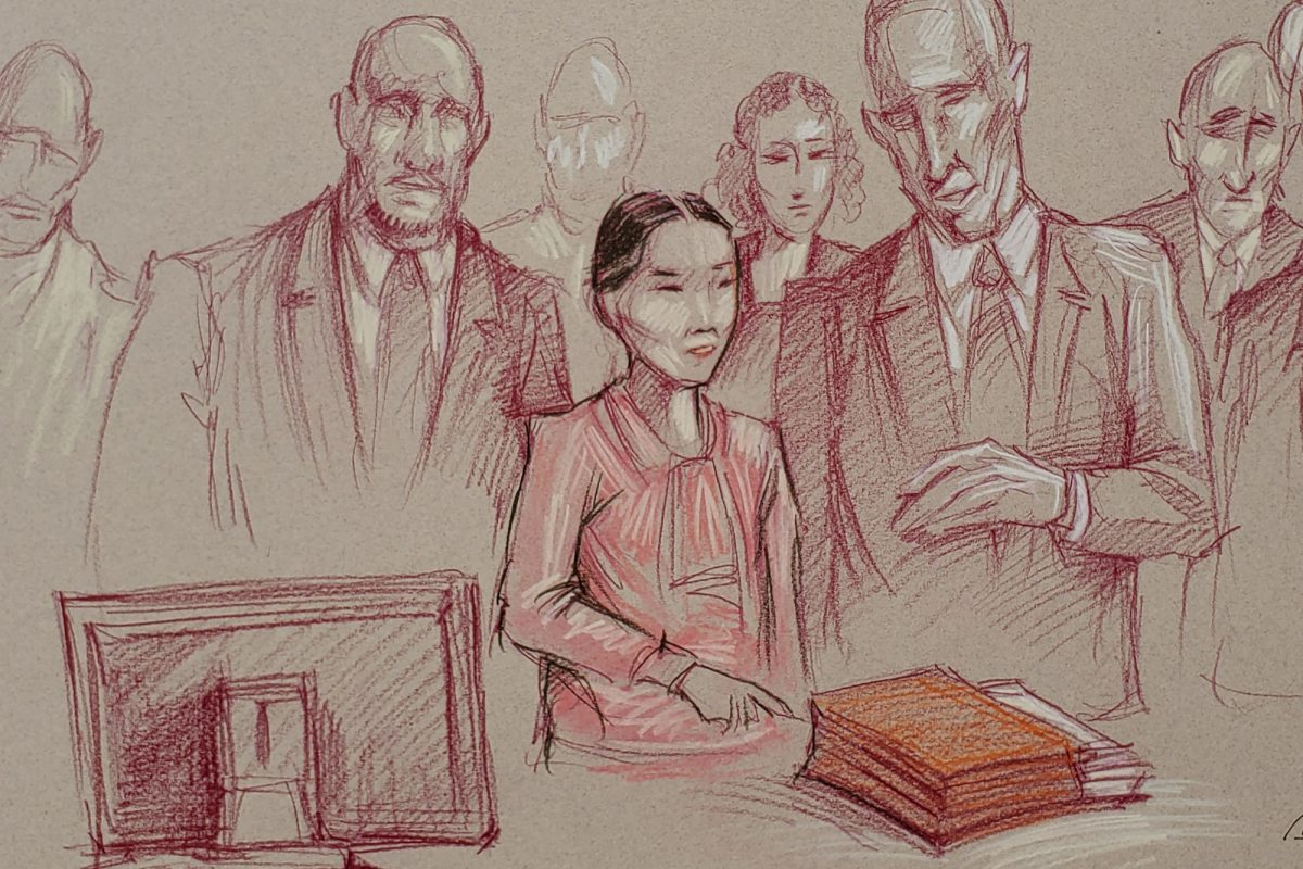 Yujing Zhang, 33, listens to the jury's verdict