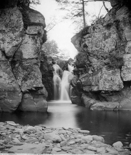 Fawn's Leap waterfall in Kaaterskill Clove, in the Catskill Mountain range of New York State.
