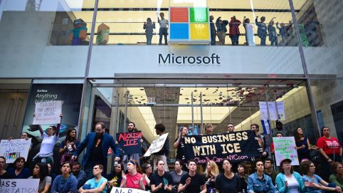 76 Anti-ICE Protesters Arrested During Sit-In at Microsoft Store in New York