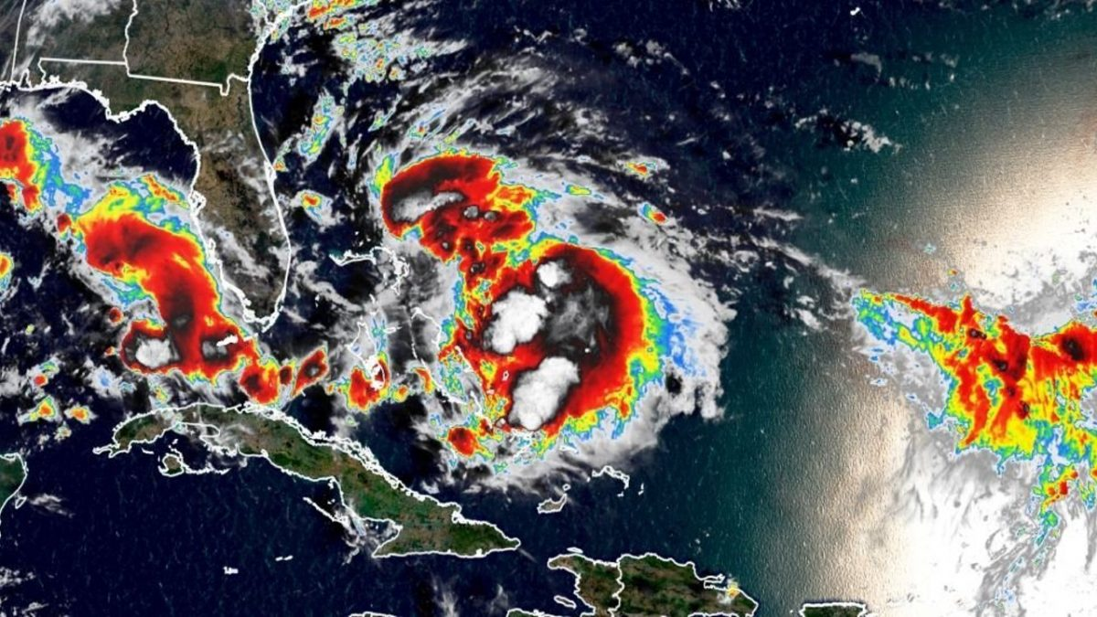 satellite image of Humberto on Sept. 14