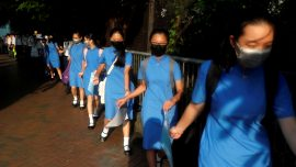 Hong Kong Students Hold Hands to Peacefully Protest for Greater Democratic Rights