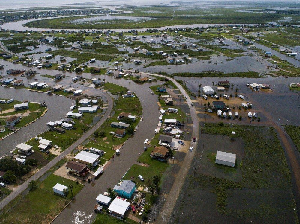 Sargent, Texas after tropical storm Imelda