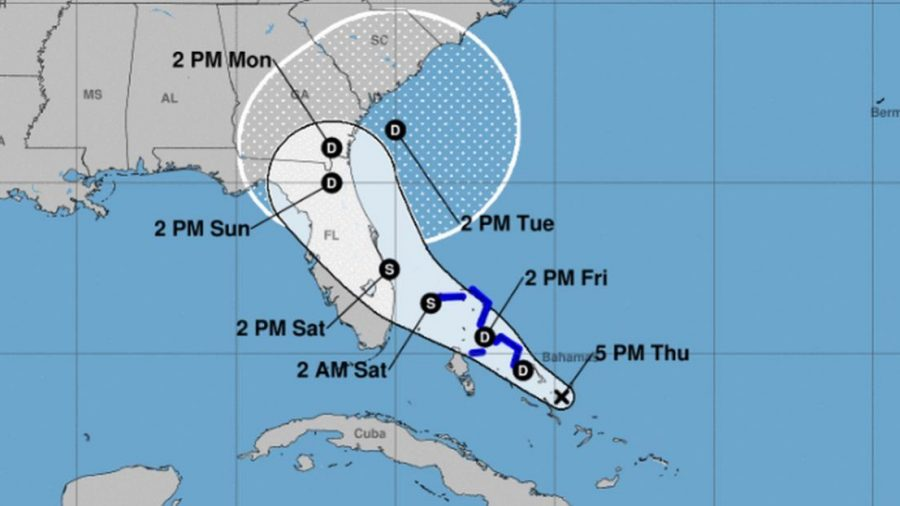 Tropical Storm Humberto Gets Closer to the Area Devastated by a Hurricane in the Bahamas