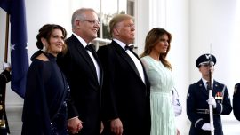 Americans, Australians Gather in White House Rose Garden for State Dinner