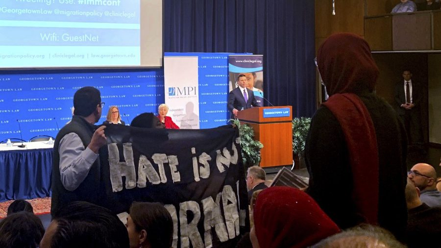 Immigration Activists Shut Down Speech From Acting Homeland Security Secretary at Georgetown University