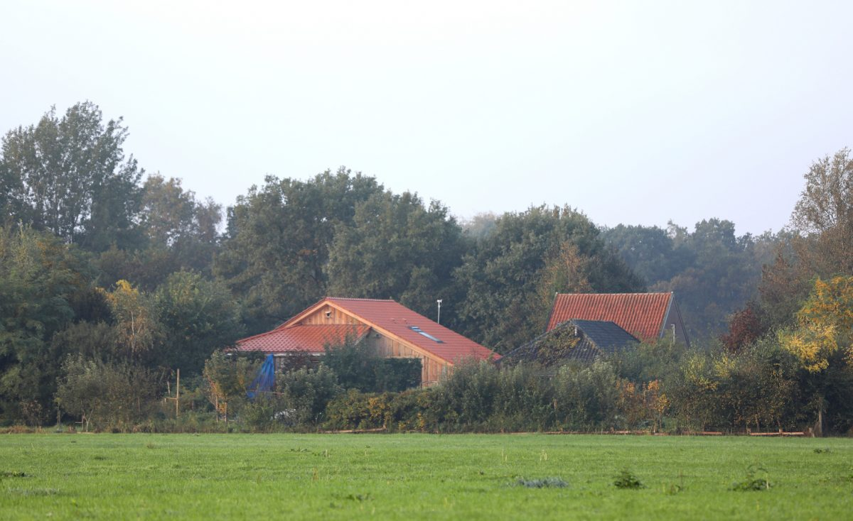 Farm-in-Netherlands-family-in-isolation