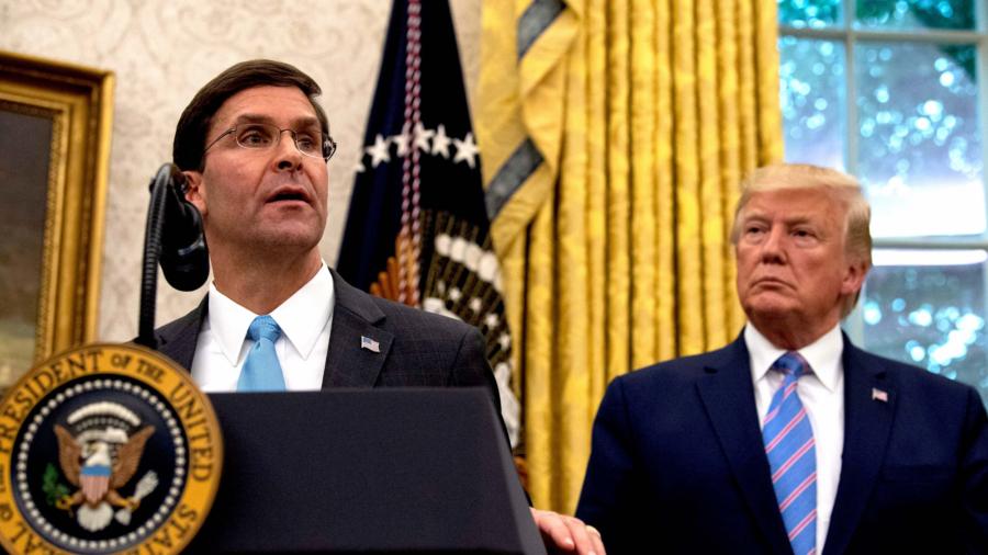 Defense Secretary Mark Esper Says He Won't Cooperate With Impeachment Inquiry
