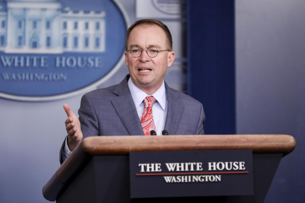 White House Chief of Staff Mick Mulvaney
