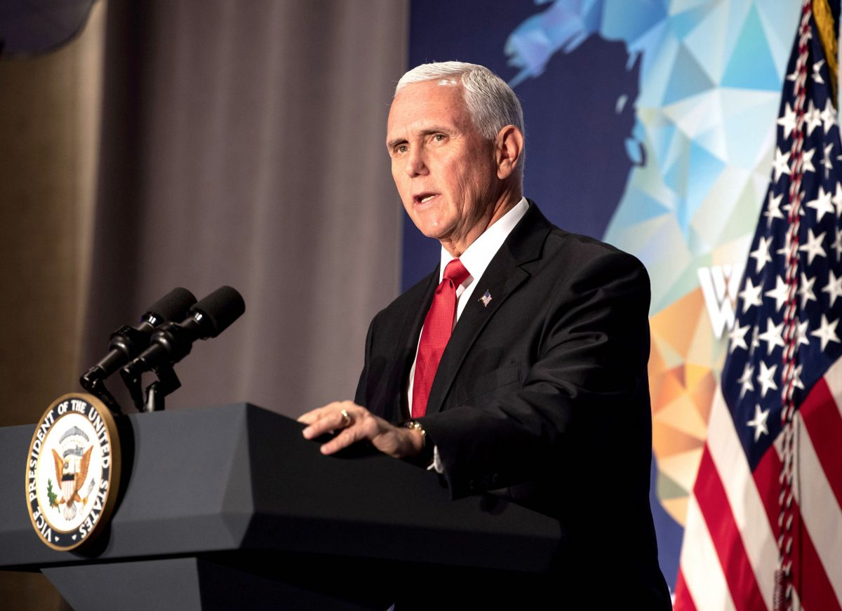 Vice President Mike Pence speaks