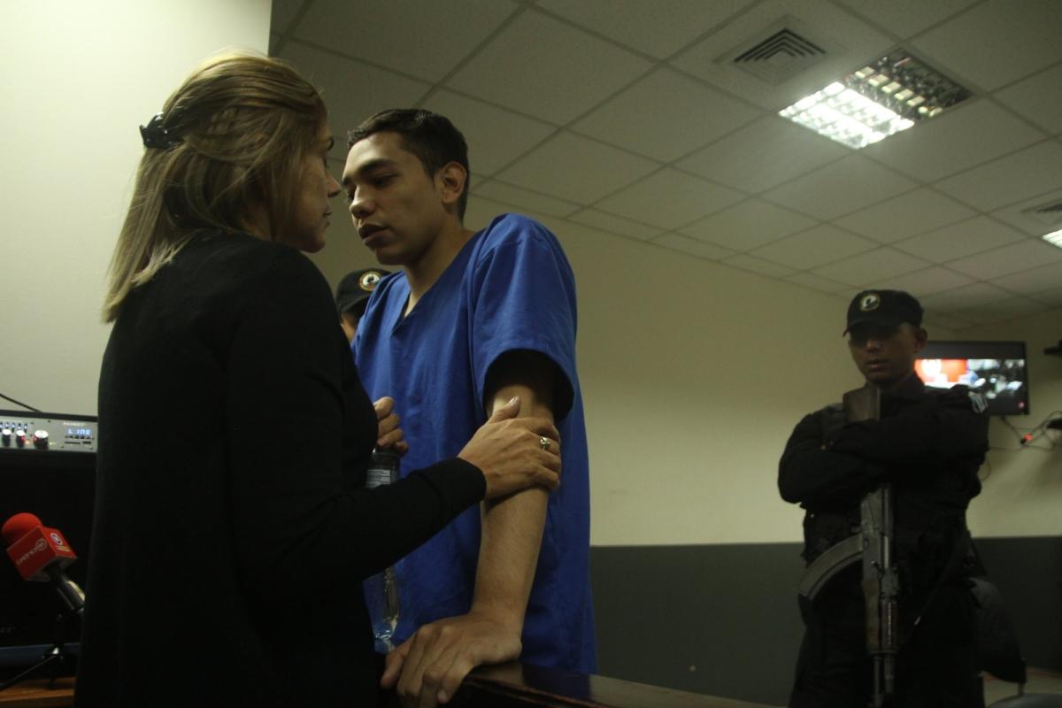 Orlando Tercero visits with his mother Martha Moreno
