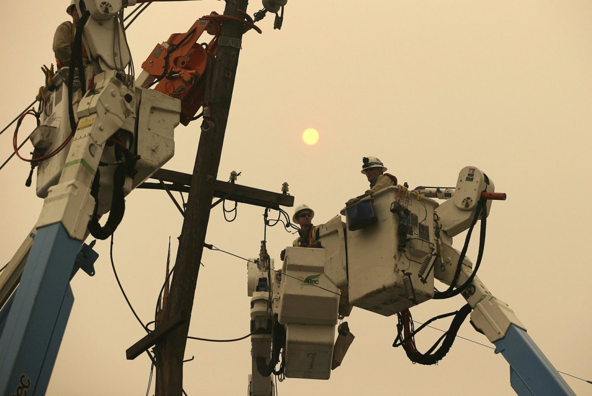 PG&E power cut