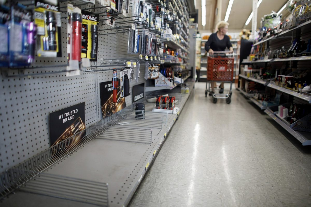 People get supplies for power outage