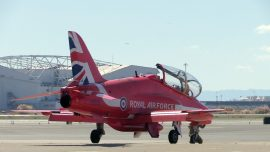 Red Arrows Perform Aerobatics in North America After 11 Years