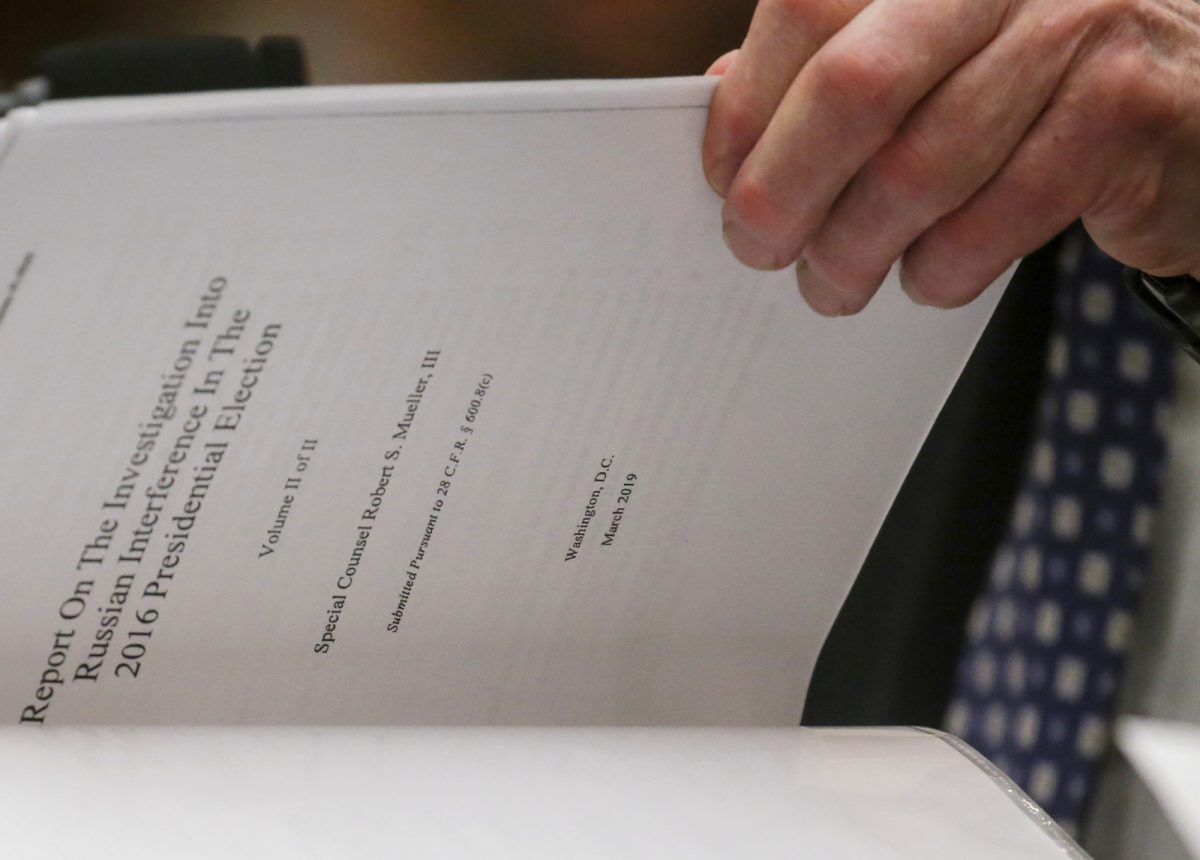 Robert Mueller references a copy of his report