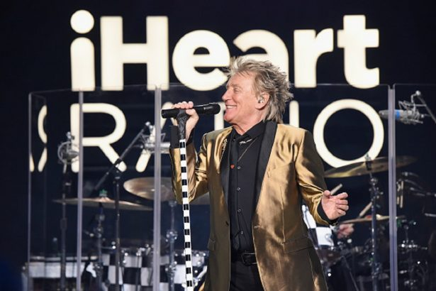 Rod Stewart performs onstage