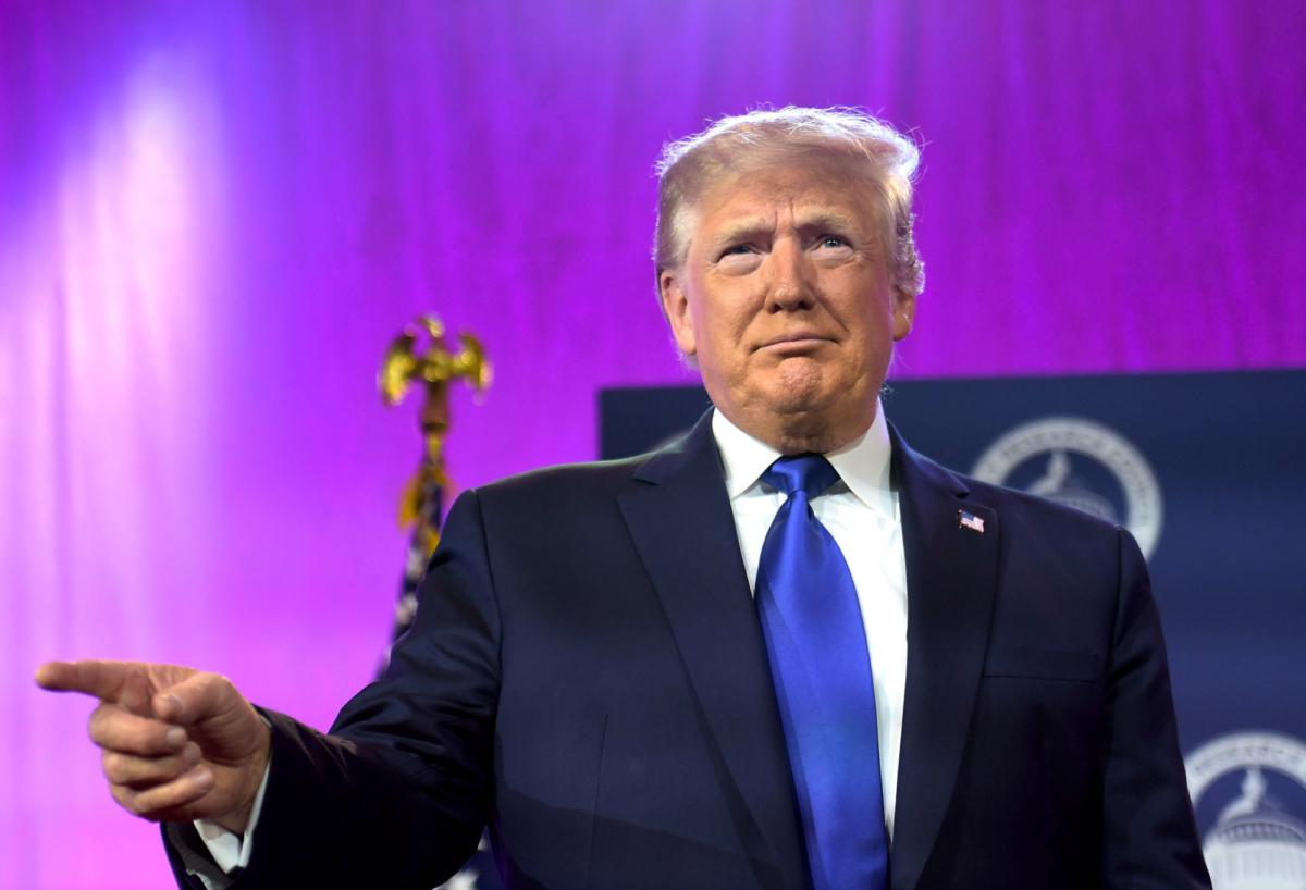 Trump speaks at the Values Voter Summit