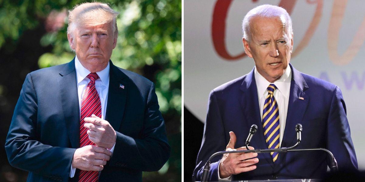 Trump(L), Biden(R)