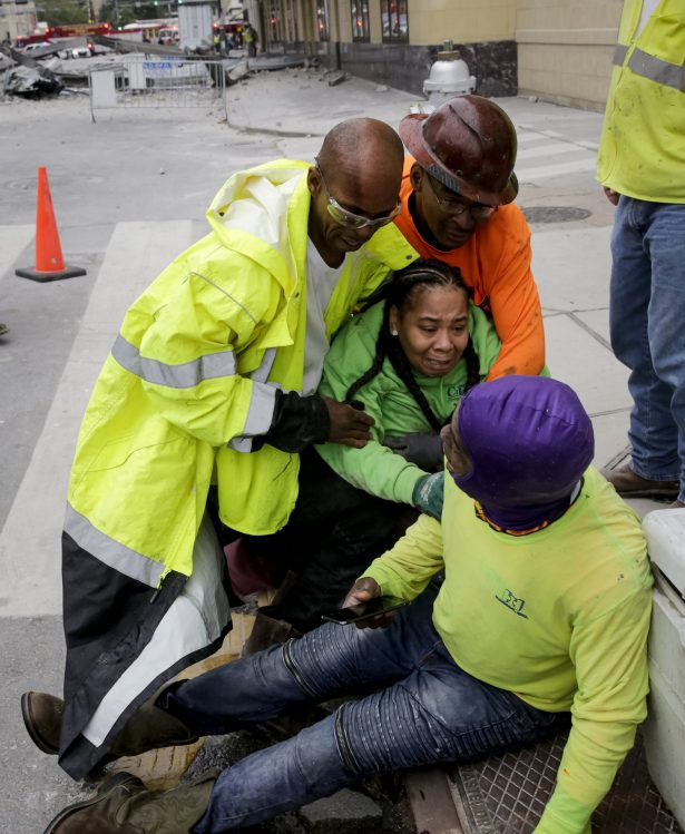 Workers are helped