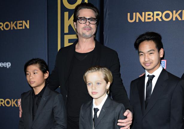 Brad Pitt and his children