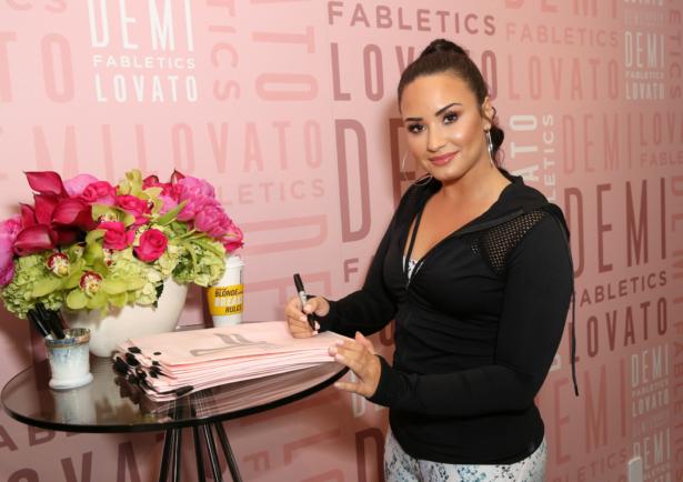 Demi Lovato visits Fabletics