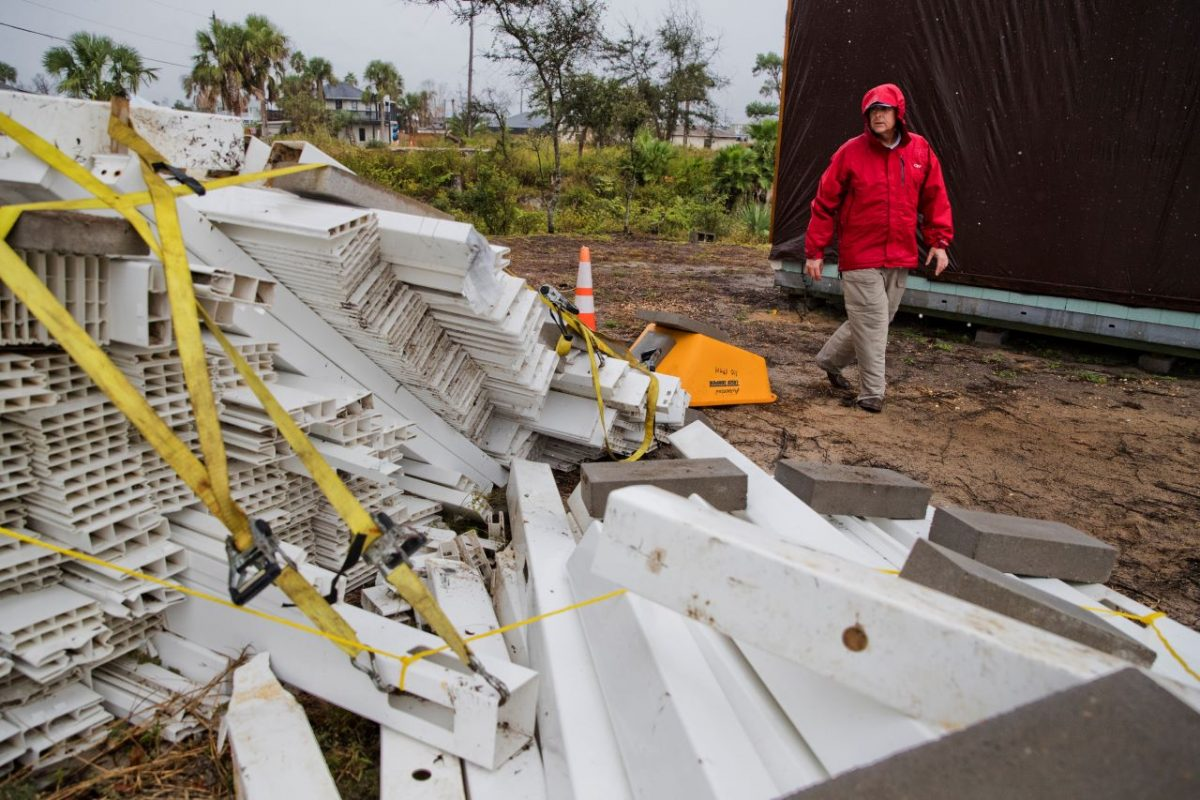 Post-tropical storm Nestor batters Florida with storm surge, tornadoes