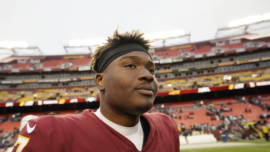 Washington Redskins Quarterback Dwayne Haskins Missed the Last Play of the Game Taking a Selfie