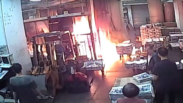 Epoch print shop set on fire