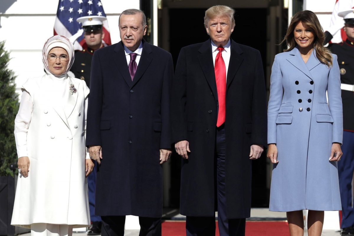 Erdogan, wife and Trump, Melania
