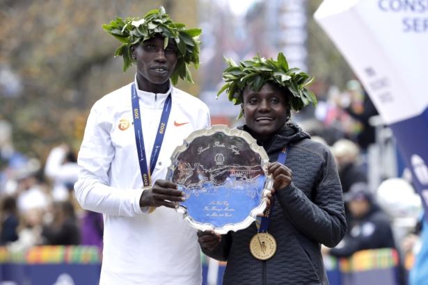 Jepkosgei Wins NYC in Her First Marathon, Kamworor Takes Men's