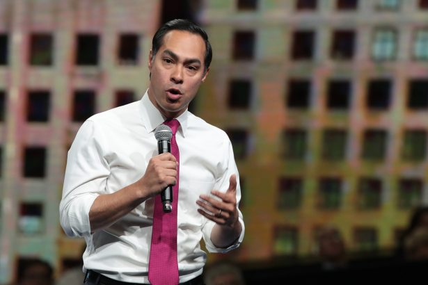 Julián Castro speaks at the Liberty and Justice Celebration