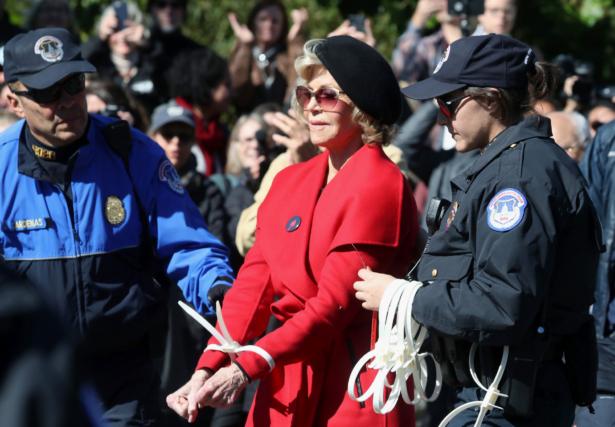 Jane Fonda is arrested