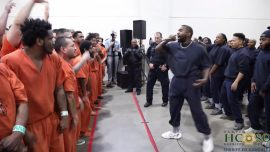 Kanye West Performs Surprise Concert for Inmates at Houston Jail