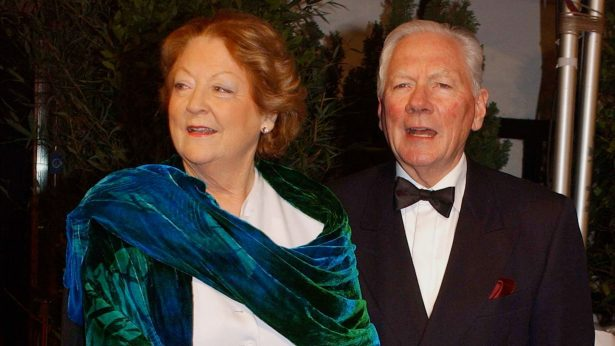 Kathleen Watkins and Gay Byrne