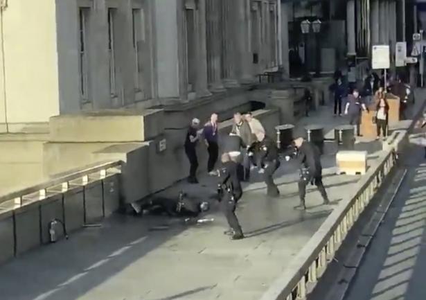 London stabbing suspect shot