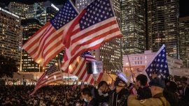 Pro-Democracy Protesters Hold Rally to Thank US for Enacting Hong Kong Bills