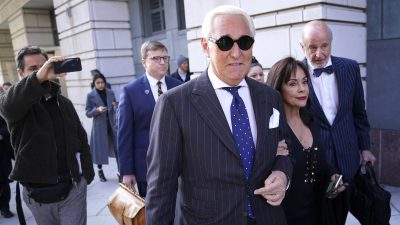 Roger Stone Sentenced to 3 Years and 4 Months in Prison